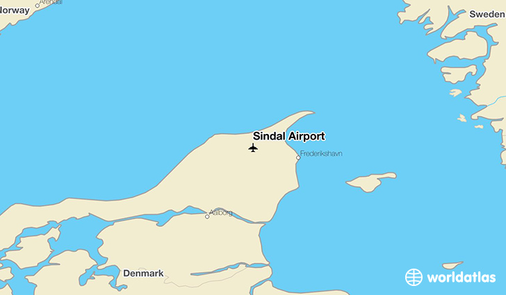 Sindal Airport location on a map