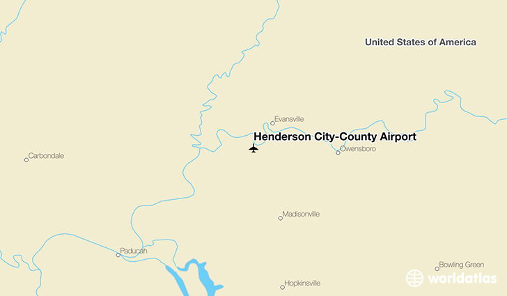 Henderson City-County Airport location on a map