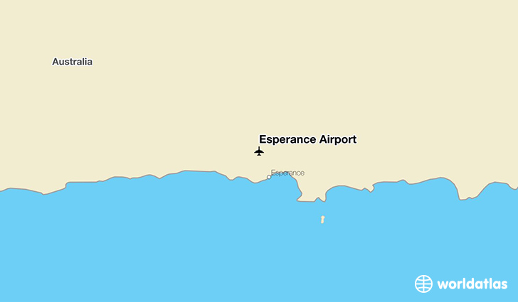Esperance Airport location on a map