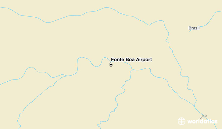 Fonte Boa Airport location on a map