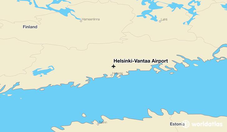 Helsinki vantaa airport hel worldatlas helsinki vantaa airport location on a map sciox Image collections