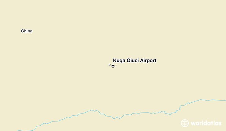 Kuqa Qiuci Airport location on a map