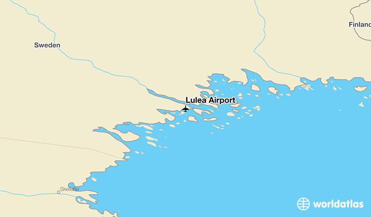 Luleå Airport LLA WorldAtlas - Sweden map airports