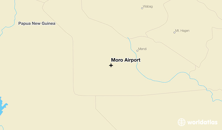 Moro Airport location on a map