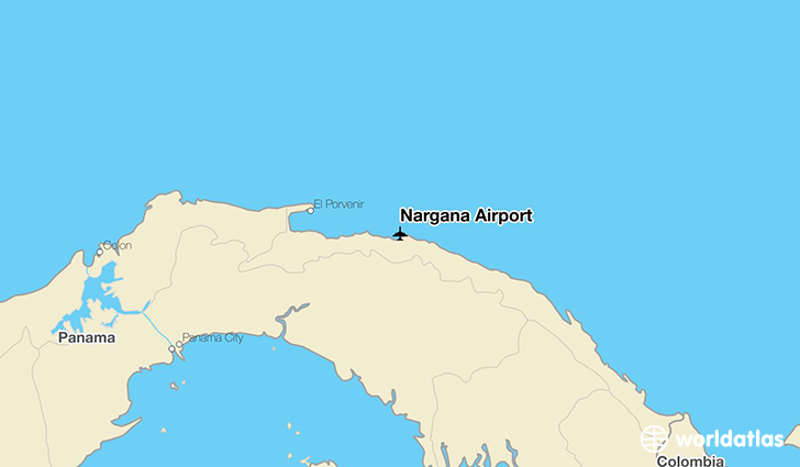 Nargana Airport location on a map