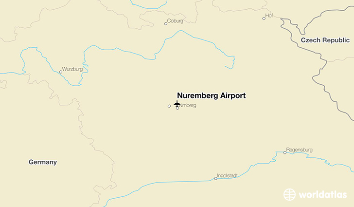 Nuremberg Airport location on a map