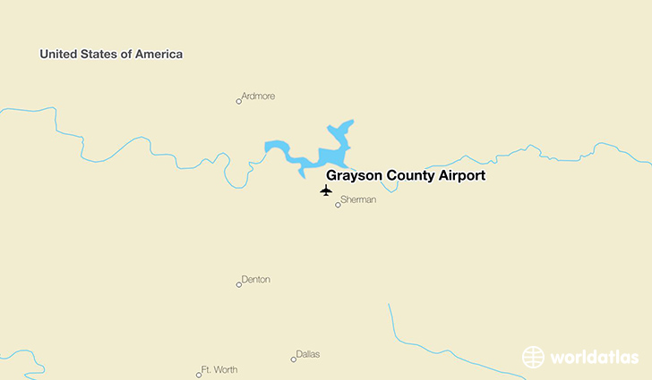 Grayson County Airport location on a map