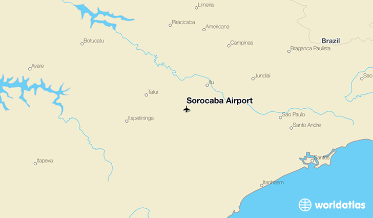 Sorocaba Airport location on a map