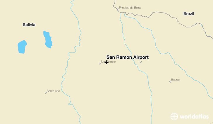 San Ramón Airport location on a map