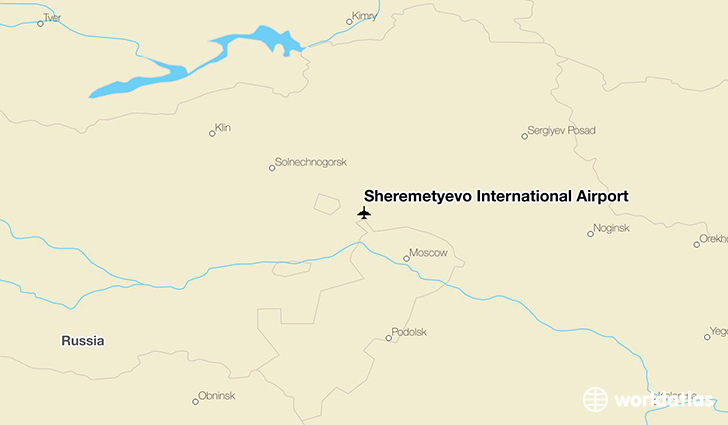 Sheremetyevo International Airport location on a map