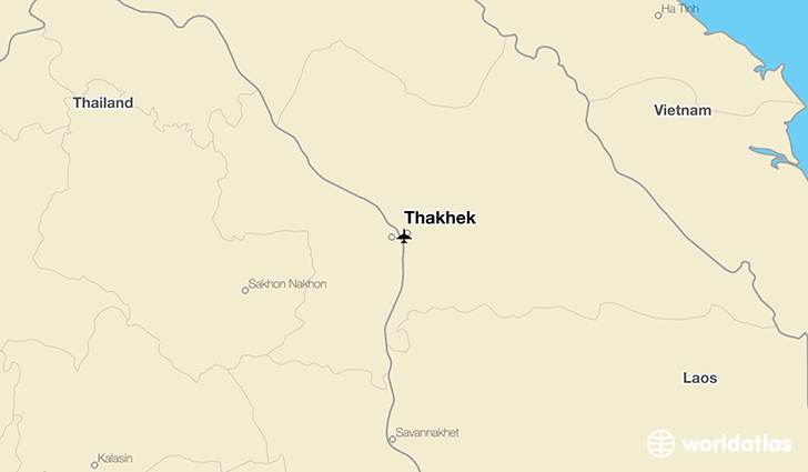 Thakhek location on a map