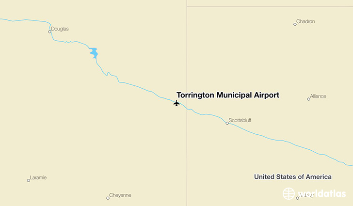 Torrington Municipal Airport location on a map