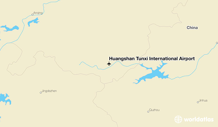 Huangshan Tunxi International Airport location on a map
