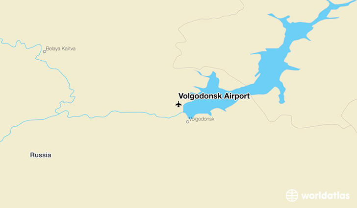 Volgodonsk Airport location on a map