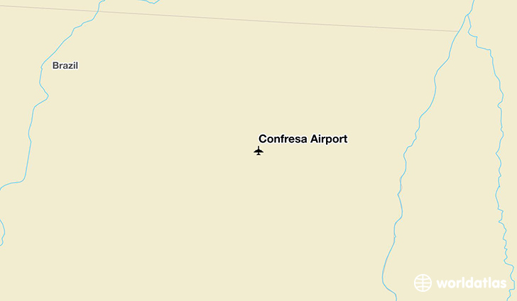 Confresa Airport location on a map