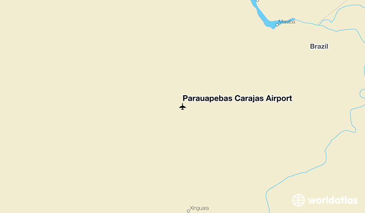 Parauapebas Carajás Airport location on a map