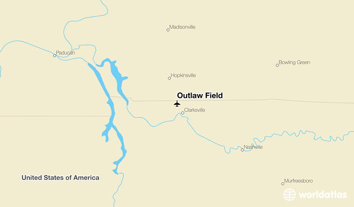 Outlaw Field location on a map