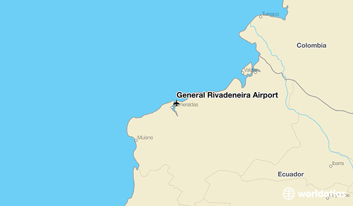 General Rivadeneira Airport location on a map