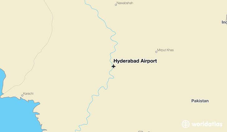 Hyderabad Airport location on a map