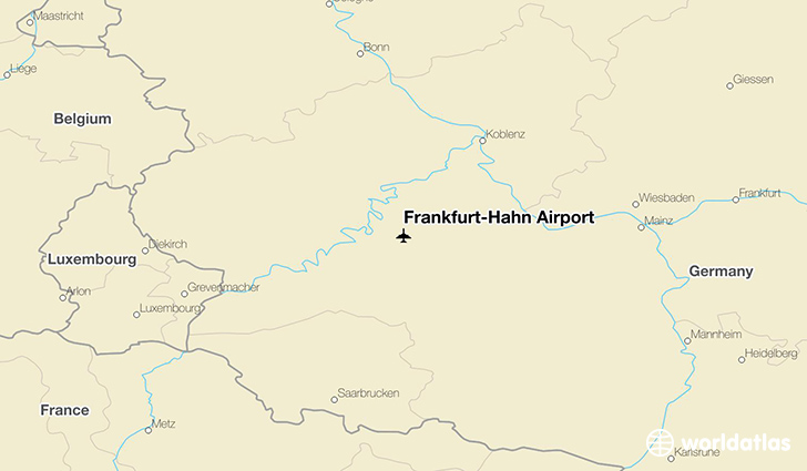 Frankfurt-Hahn Airport location on a map