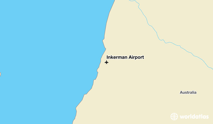 Inkerman Airport location on a map