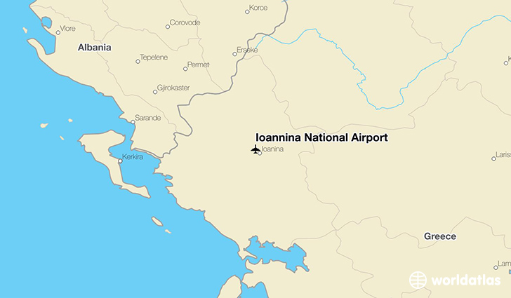Ioannina Greece Map.Ioannina National Airport Ioa Worldatlas
