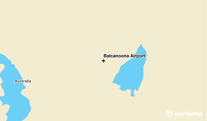 Balcanoona Airport location on a map