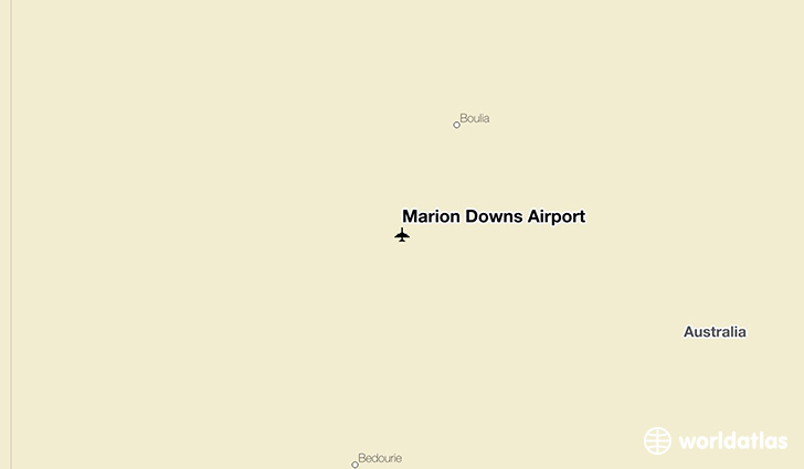 Marion Downs Airport location on a map