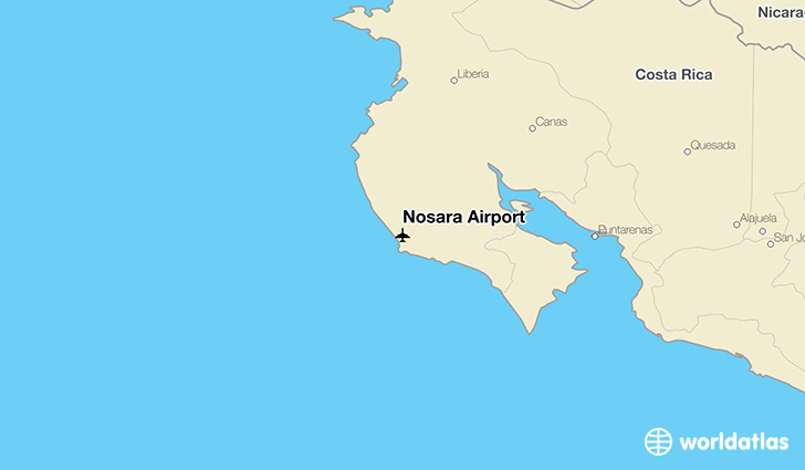 Nosara Airport location on a map