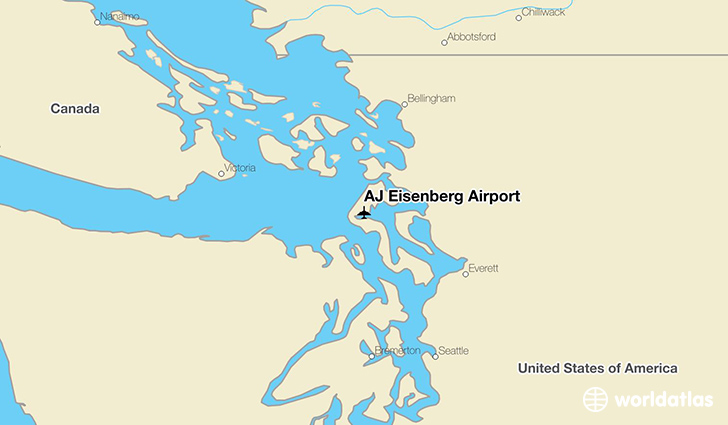 AJ Eisenberg Airport location on a map