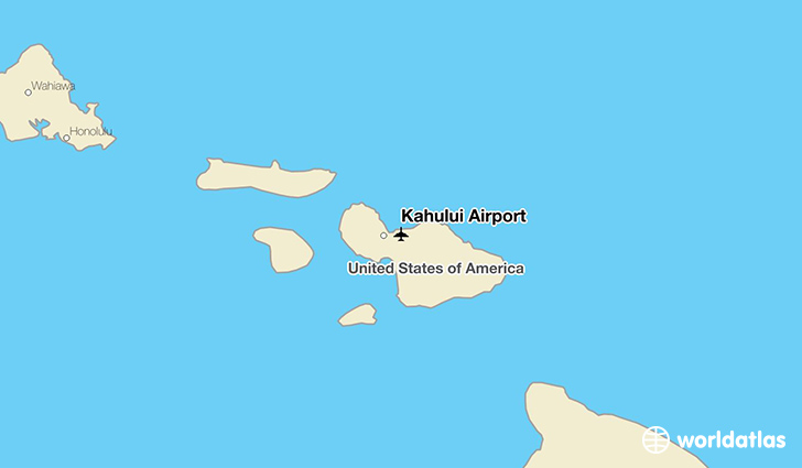Kahului Airport location on a map