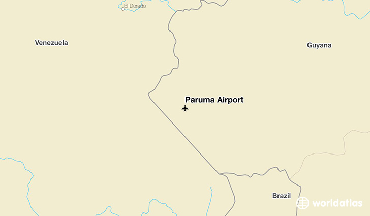 Paruma Airport location on a map