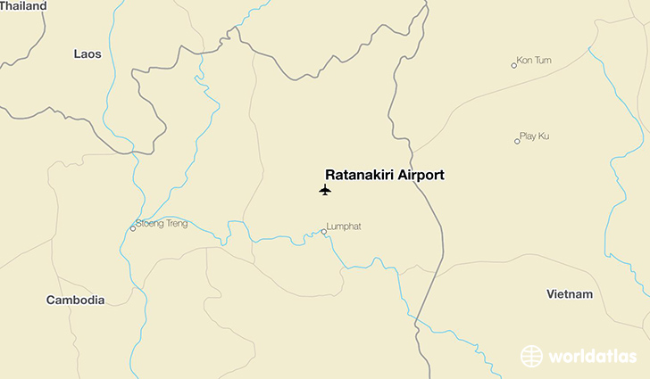 Ratanakiri Airport location on a map