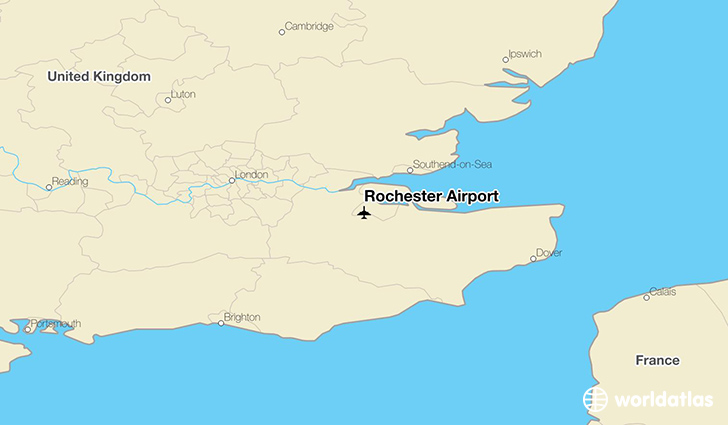 Rochester Airport location on a map