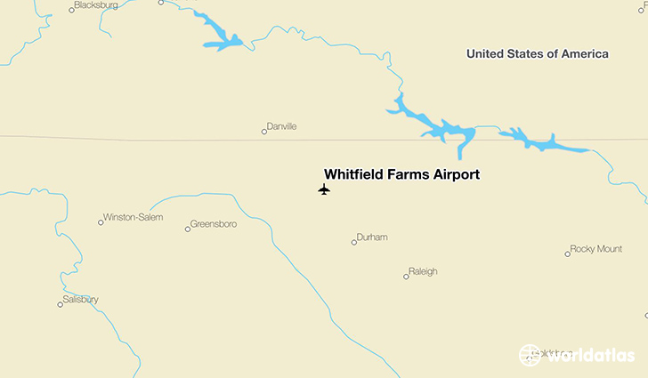 Whitfield Farms Airport location on a map