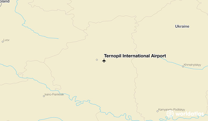Ternopil International Airport location on a map
