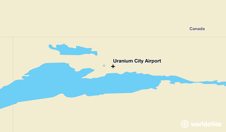 Uranium City Airport location on a map