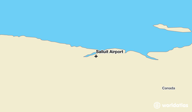 Salluit Airport location on a map