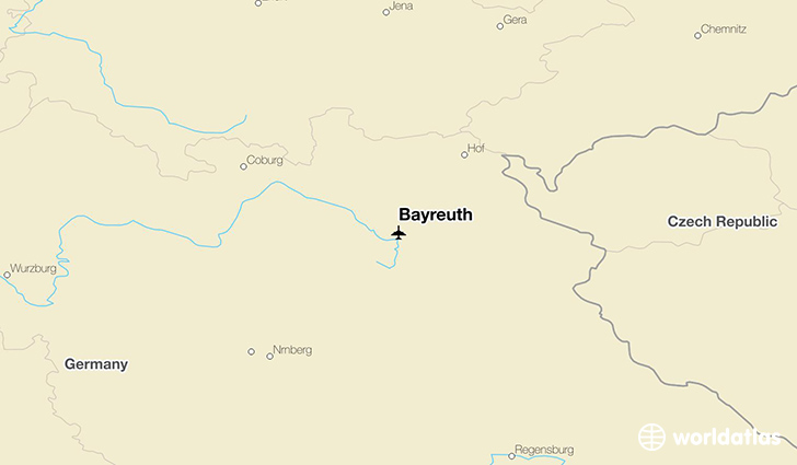 Bayreuth location on a map