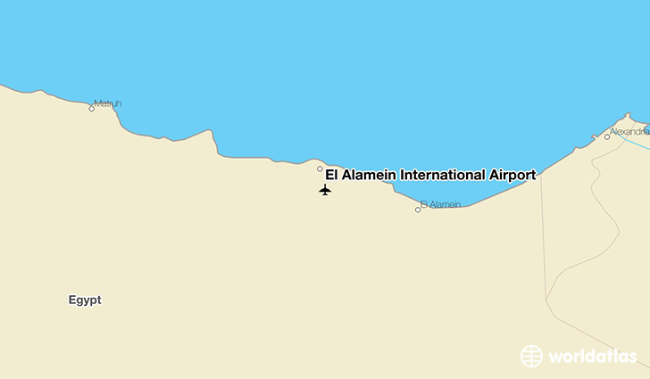 El Alamein International Airport location on a map