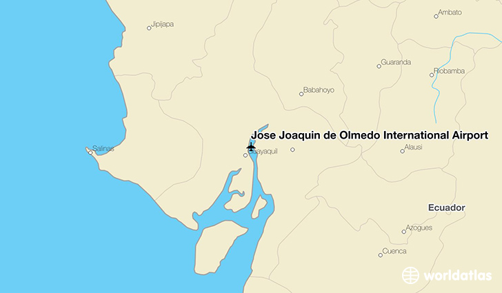 José Joaquín de Olmedo International Airport location on a map