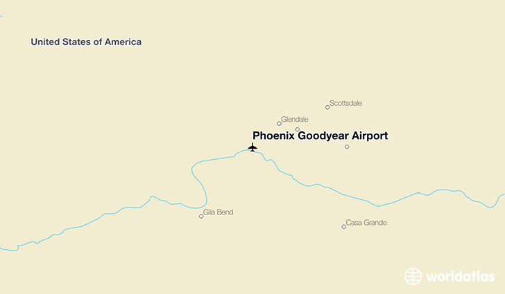 Phoenix Goodyear Airport location on a map
