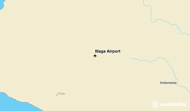 Illaga Airport location on a map