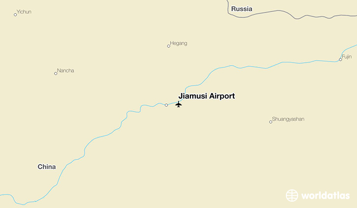 Jiamusi Airport location on a map