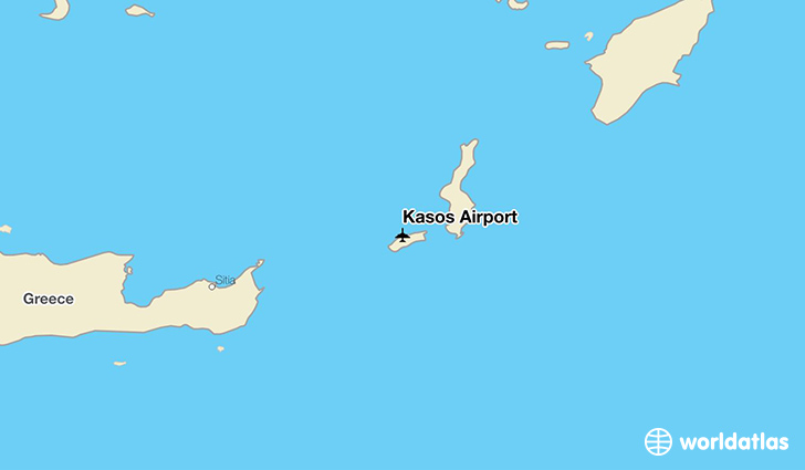 Kasos Airport location on a map