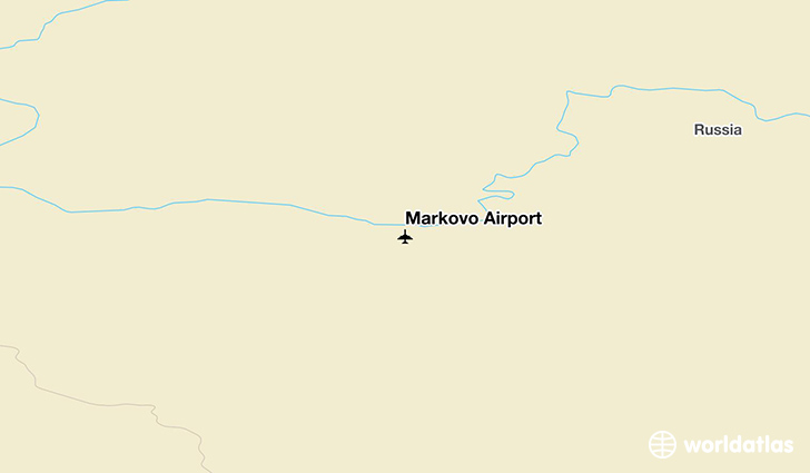Markovo Airport location on a map