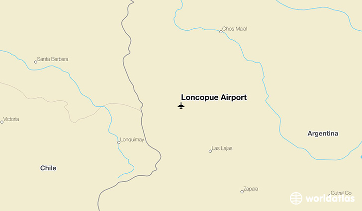 Loncopue Airport location on a map