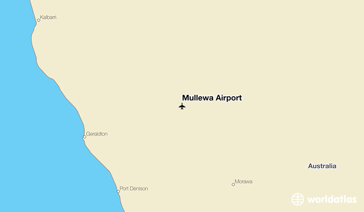 Mullewa Airport location on a map