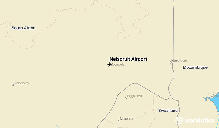 Nelspruit Airport location on a map