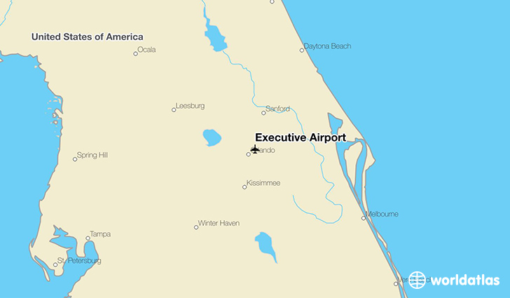 Executive Airport location on a map